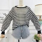 Patchwork Striped Knit Top