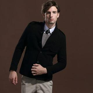 Wool-blend Buttoned Jacket