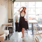 Layered Floral Suspender Skirt