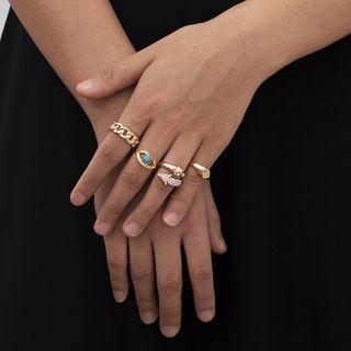 Set Of 4: Ring 548 - Gold - One Size