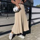 Knit Maxi Accordion Pleated Skirt
