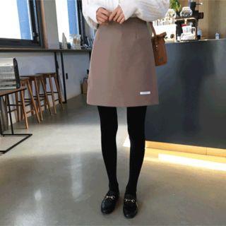 Handmade Wool Blend Miniskirt