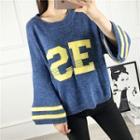 Letter Applique Sweater