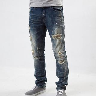Washed Distressed Jeans