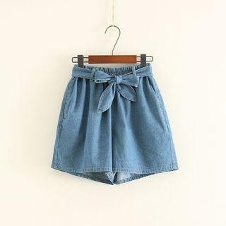 Bow Denim Shorts