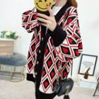 Heart Pattern Oversized Cardigan