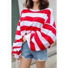 Striped Loose-fit Pullover