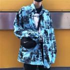 Printed Shirt Aqua Blue - One Size