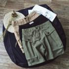 Cargo Pocket Drawstring Shorts