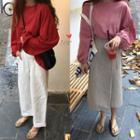 Plain Long-sleeve Pullover