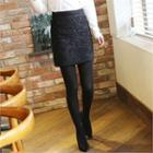 Zip-back Laced Pencil Skirt
