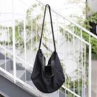 Nylon Crossbody Tote Bag Black - One Size