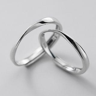 Couple Matching Ring 1 Pair - S925 Silver - As Shown In Figure - One Size