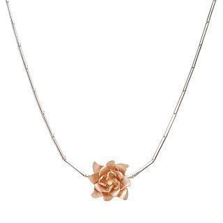 14k White & Rose Gold Necklace