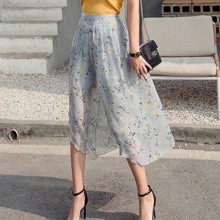 Capri Floral Wide Leg Pants