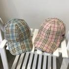 Embroidered Dolphin Plaid Baseball Cap