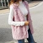 Boucl -knit Vest