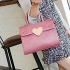 Heart-accent Flap Satchel