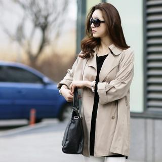 Double-breasted Flap Trench Coat
