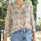 Floral Chiffon Blouse Off White - One Size