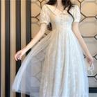Embroidered Sleeveless Dress / Embroidered Short-sleeve Dress