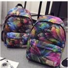 Feather Print Backpack