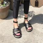 Belted-detail Ankle-strap Sandals