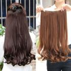 Set: Clip-in Hair Extension - Wavy + Hair Care Solution