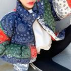 Oversized Paisley Padded Jacket