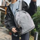 Pompom Lettering Nylon Backpack