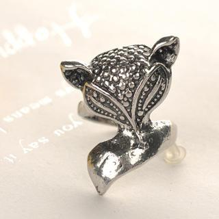 Fox Ring  Silver - One Size