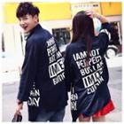 Lettering Zip Couple Jacket