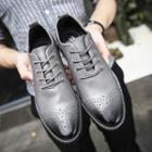 Lace-up Stitched Gradient Oxfords