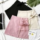 Plain Bow A-line Skirt