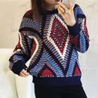 Patterned Chunky Knit Sweater