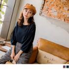 3/4 Puff Sleeve Knit Top