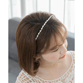 Faux-pearl Skinny Hair Band One Size