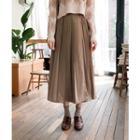 Accordion-pleated Wrap Skirt