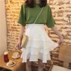 Tiered Mini Skirt
