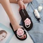 Floral Platform Slippers