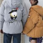 Couple Matching Hood Printed Padded Jacket