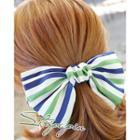 Stripe Bow Hair Barrette