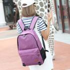Buckled Cotton Backpack