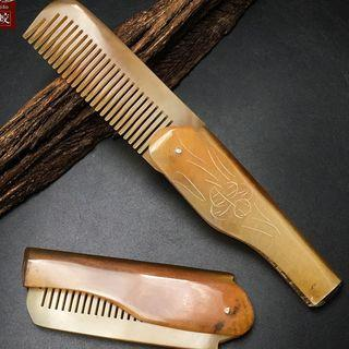 Foldable Horn Hair Comb As Shown In Figure - One Size