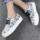 Floral Print Canvas Sneakers