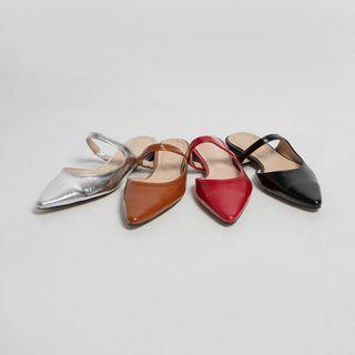 Pointy-toe Mary-jane Mules