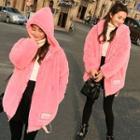 Fleece Hooded Zip-up Jacket