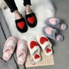 Couple Matching Heart Detail Slippers