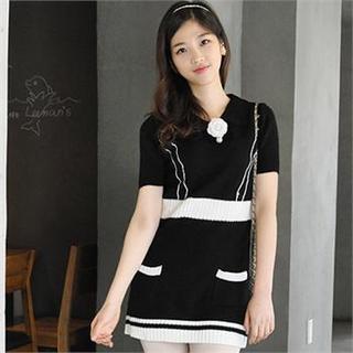Short-sleeve Knit Dress