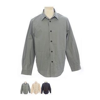 Pocket-detail Boxy-fit Shirt
